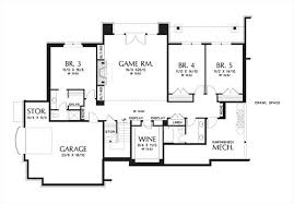 Practical Magic House Floor Plan Craftsman House Plan With 5 Bedrooms And 3 5 Baths Plan 4298