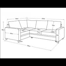 Seattle Corner Desk Hygena Seattle Fabric Left Corner Sofa Bed Charcoal