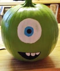 halloween paintings ideas mike wazowski painted pumpkin mine came out super cute