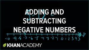 adding subtracting negative numbers pre algebra khan academy