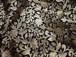 Wedding Dress Material Brocade Fabric By The Yard Banarasi Fabric Indian Brocade Fabric