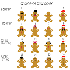 gingerbread christmas personalised family print by ciliegia