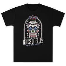 house of blues crown skull men u0027s t shirt new orleans shop the
