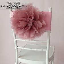 blush chair sashes 100 pcs free shipping blush pink flower chair band organza flower