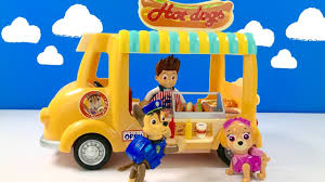 learn food names paw patrol dog stand pups eat fizzy