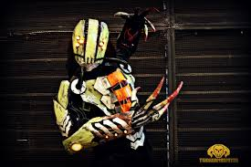Light Up Costumes The Glitch Cyberpunk Rogue Reaper Light Up Costume By