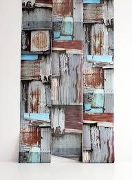 papier peint trompe l oeil cuisine papier peint trompe l oeil corrugated wall in par deborah