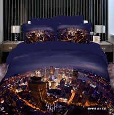 Best Fabric For Bed Sheets 3d Bedding Sets Best 3d Vivid City Night View Comforters Bedding