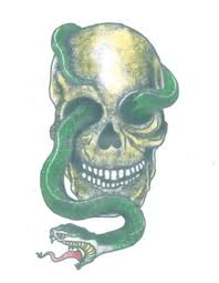 large skull with snake tattooednow ltd