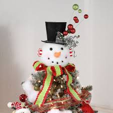 snowman christmas tree snowman christmas tree topper or table accent