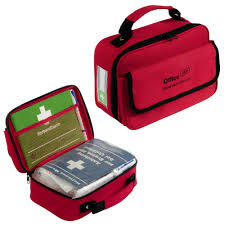 holthaus medical aid kit office plus filled first aid book pen