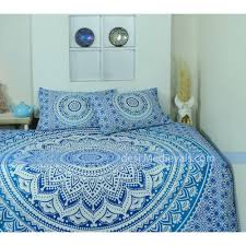 Bedroom Tapestry Indian Wall Bedroom by Mandala Blue Ombre Indian Twin Size With Pillowshippy Wall Hanging