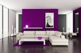 what colour goes with dark purple walls in living room wall decor