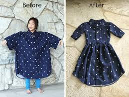 diy men u0027s xl shirt into a little u0027s dress life is beautiful