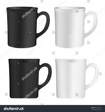 four cups white black cup set stock vector 573302116 shutterstock