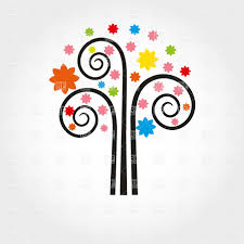 curly stylish tree vector clipart image 21990 rfclipart