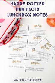 harry potter fun facts lunchbox printables fun facts printables