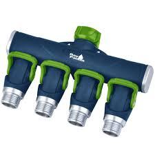 ray padula thumb control metal 4 way hose manifold faucet splitter