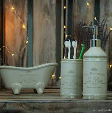 Bathroom Accessories Shabby Chic by Vintage Glass Bathroom Accessories