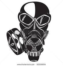 vector sketch gas mask stock vector 183558854 shutterstock
