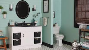 Bathroom Furniture Black Bathroom Corner Oak Vanity Lowes Bathrooms With Black Countertop