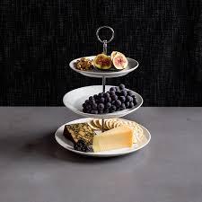 unique serving platters ksp circo 3 tier serving platter white kitchen stuff plus