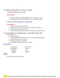 Logistics Responsibilities Resume C V Warehouse U0026 Logistics