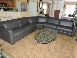 Sofa Bed Macys by Macy U0027s Nicolo 5 Piece Slate Leather Reclining Sectional Sofa We