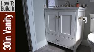 how to build a 30 inch bathroom vanity youtube