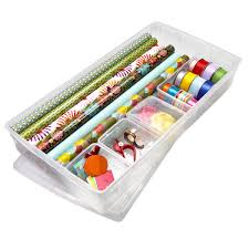 customized gift wrap center container store scissors and organizing