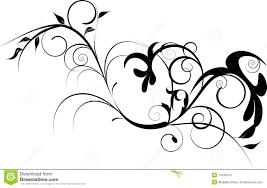 black decorative ornament stock vector illustration of leaf 14169373
