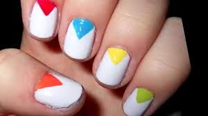 cute colorful nails easy short nails youtube