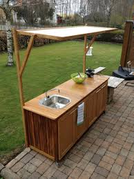 Simple  Building Outdoor Kitchen Cabinets Inspiration Design Of - Outdoor kitchens cabinets