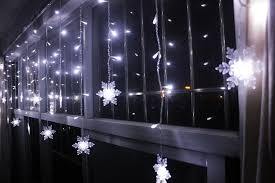 cheap 3 5m 96smd snowflake led curtain string lights l new year