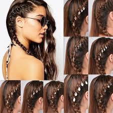 hair ring 5pcs set fashion hair clip hair decoration charm leaf shell
