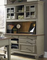 Desk With Printer Storage Liberty Furniture Bungalow Jr Executive Credenza With Hutch