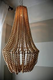 bead chandelier upcycle a plain chandelier into a beaded showpiece