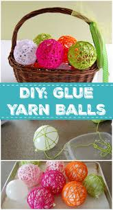 classic diy glue yarn ball make and takes