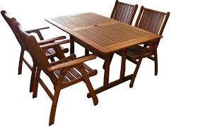 1 5m rectangular table 5 pc dining set