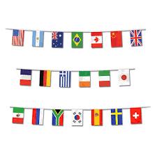 23 foot international world flags banner border travel theme