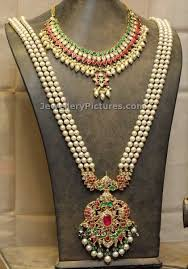long pearl chain necklace images Pearls jewellery designs in gold jewellery designs jpg