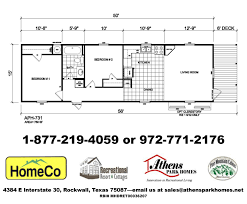 Park Model Floor Plans by Athens Park Homes Model 731 Country Cottage