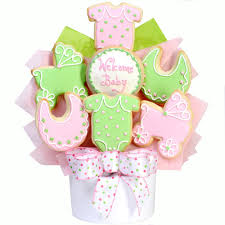 cookie bouquet baby girl cutout cookie bouquet