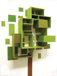 Green Bookshelves - awesome green tree bookshelf awesome crafty diy inspirations