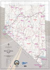 nevada road map nevada rest area map facility information weather