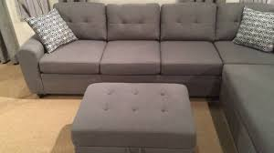 Reversible Sectional Sofa by 500413 Grey Reversible Sectional Sofa Youtube