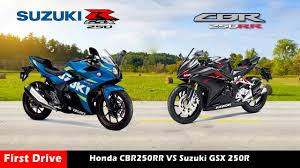 cdr bike price compare honda cbr250rr vs suzuki gsx 250r gixxer 250 first drive