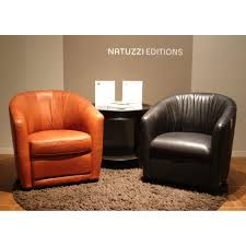 Swivel Club Chair Upholstered A835 Upholstered Leather Swivel Armchair By Natuzzi Editions