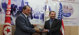 chambre de commerce tunisie l ambassadeur des etats unis au siège de la chambre de commerce et d