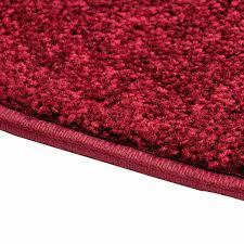 flame 4 u0027 half round polyester fireplace rug crimson northline